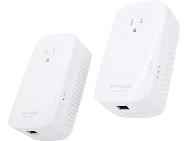 TP-LINK HomePlug AV1200 Gigabit Pass-through Powerline Starter Kit $TL-PA8010P $50AC