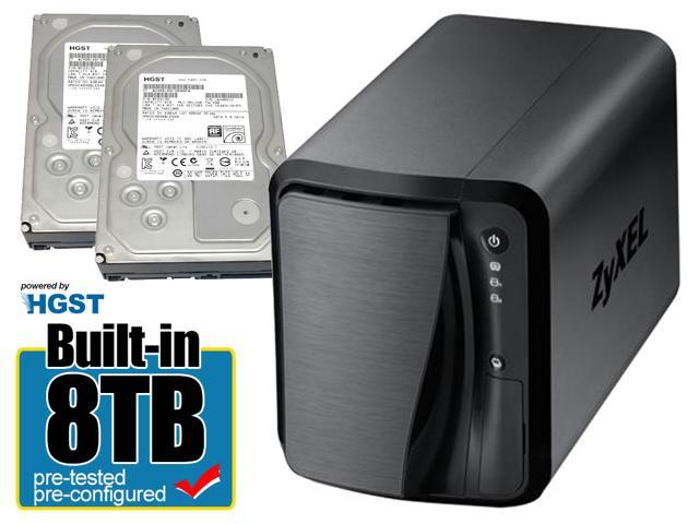 ZyXEL NAS520 2-bay NAS (2x HGST 4TB HDD)  $350@NF