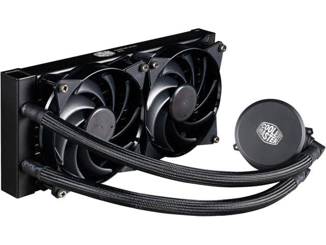 Cooler Master MasterLiquid 240 All-In-One CPU Liquid Cooler $65