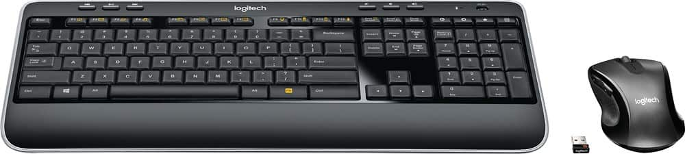 Logitech - MK530 Advanced Wireless Keyboard and Optical Mouse for $25