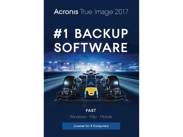 Acronis True Image 2017 - 3 Devices Free after $50 Rebate