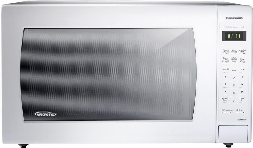 Panasonic - 2.2 Cu. Ft. Family-Size Microwave - White $130