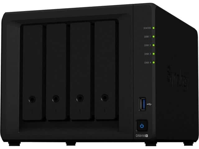 Synology DS918+ NAS DiskStation, Diskless, 4-bay NAS $570 AC