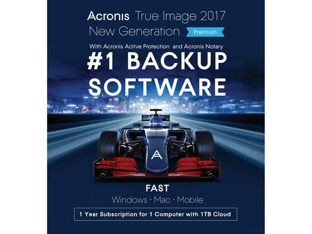 Acronis True Image 2017 Premium - 1 Device + 1TB Cloud Storage Free after $60 Rebate