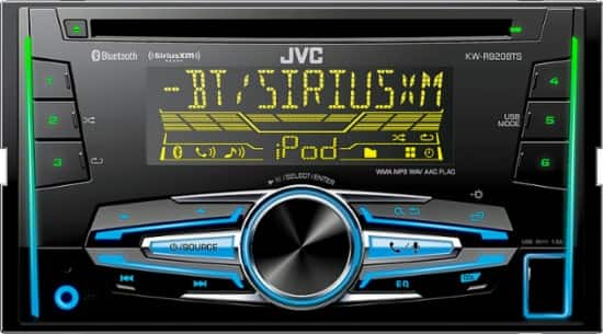 JVC Built-In Bluetooth Apple® iPod® and Satellite Radio-Ready  In-Dash Receiver with Remote $90