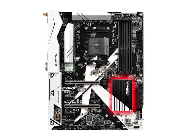 ASRock X370 Killer SLI/ac AM4 AMD Promontory X370 Motherboard $100AR