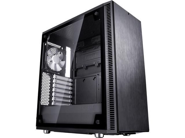 Fractal Design Define C TG Black Tempered Glass Window Silent  Mid Tower $80