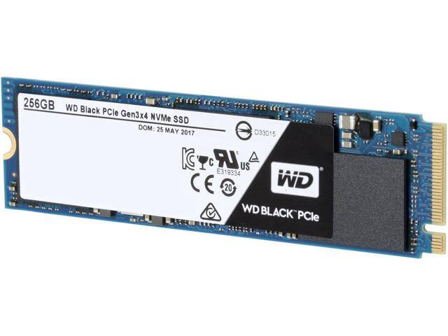 256GB WD Black M.2 2280 PCIe NVMe Performance SSD $105AC