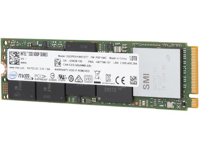 1TB Intel 600p  M.2 2280 80mm NVMe PCIe 3.0 x4 SSD $300
