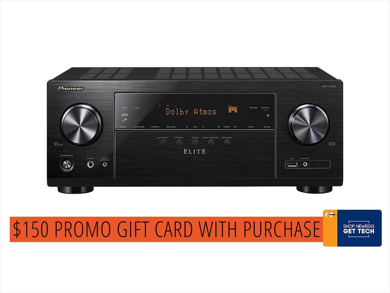 Pioneer VSX-LX101 7.2-Channel AV Receiver (+ $150 Newegg Gift Card) $400