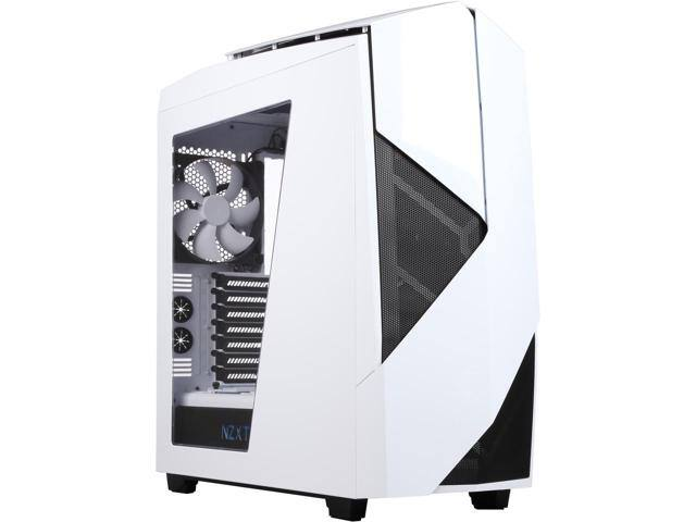 NZXT Noctis 450 Matte Black Steel Windowed ATX Mid Tower Case (White/Black) $93AC