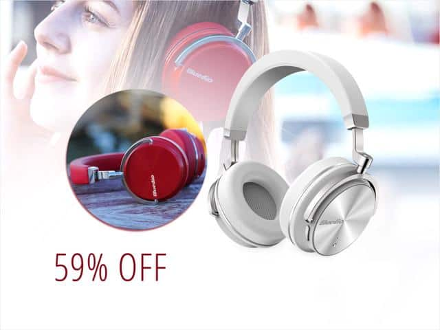 Bluedio T4 Active Noise Cancelling Over-ear Bluetooth Headphones $33 @NF