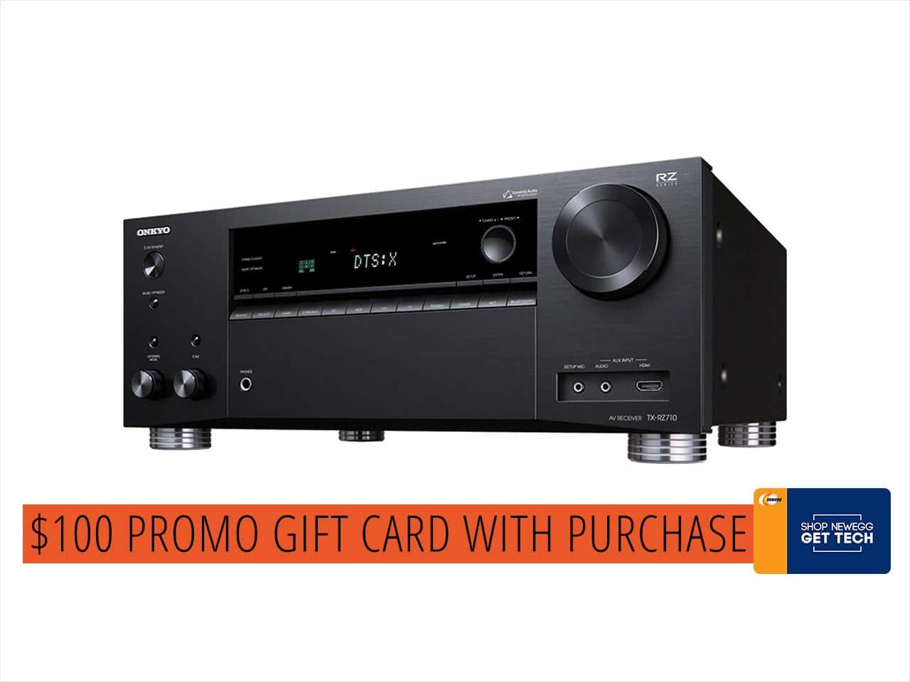 Onkyo TX-RZ710 7.2 Channel A/V Wireless Network Receiver with HDCP2.2/HDR & Bluetooth (+$100 GC) $449