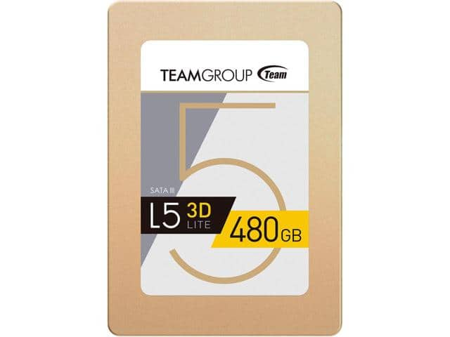 480GB  Team Group L5 LITE 3D Nand SSD $130