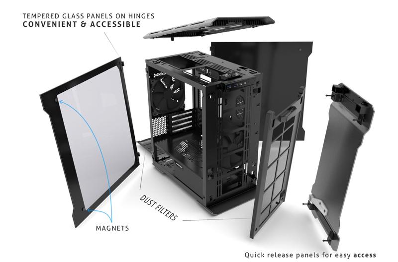 Phanteks Enthoo Evolv PH-ES314ETG_BK Satin Black Aluminum, Tempered Glass Micro ATX Tower Case $105AR