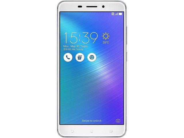 "Asus ZenFone 3 Laser 32GB 4G LTE Unlocked Cell Phone 5.5"" 2GB RAM Glacier Silver *RFB* + (Krazilla headset) $110AC ($102AR)"