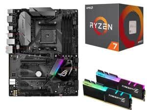 AMD RYZEN 7 1700 CPU + ASUS ROG STRIX B350-F GAMING AM4 Motherboard + 16GB G.Skill TridentZ RGB DDR4 3000 RAM $547AR