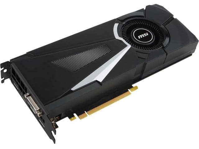 MSI GeForce GTX 1080  AERO 8G OC 8GB Video Card $470AR
