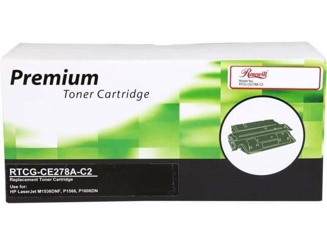 Rosewill RTCG-CE278A Free after -C2 Black Compatible Toner Replaces HP 78A (CE278A) Free after $17 MIR