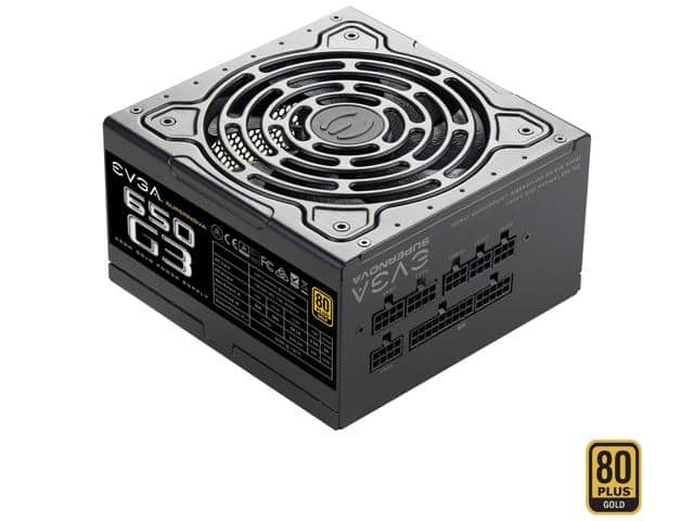 650W EVGA SuperNOVA 650 G3 80Plus Gold Modular Power Supply $65AR