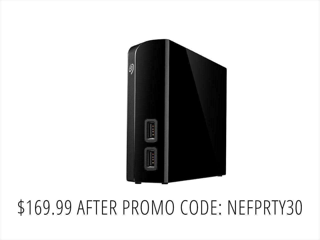 Seagate Backup Plus Hub 8TB External Desktop Hard Drive Storage (STEL8000100) $170AC