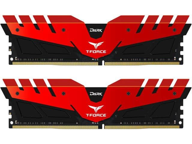 16GB (2x 8) Team Dark DDR4 2400 Desktop RAM $130