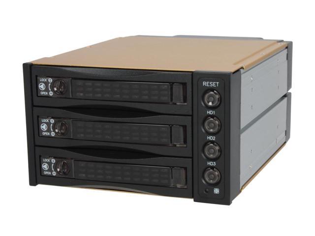 "Athena Power BP-SAC2131B 2x5.5"" to 3x3.5"" HDD Hot-Swap Backplane Module $30AC"