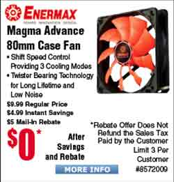 Enermax Magma Advance 80mm Case Fan Free after $5 Rebate;  Intel Core i3-7320 CPU and MSI B250M Pro-VD Motherboard bundle $149AR