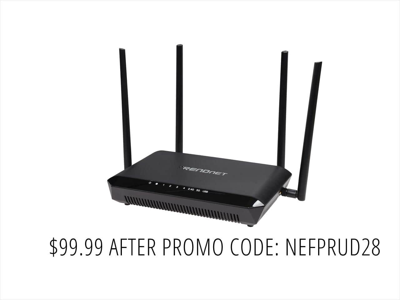 TRENDnet TEW-827DRU AC2600 Dual Band StreamBoost MU-MIMO  Router $100AC