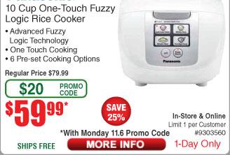 Panasonic SR-DF181 White Microcomputer Controlled / Fuzzy Logic Rice Cooker $60AC