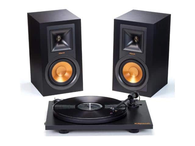 Klipsch R-15PM Powered Monitor Speakers and Pro-Ject Primary Turntable Package (Black) $404AC