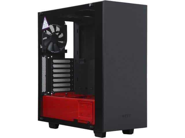 NZXT S340 Elite Black/Red Steel/Tempered Glass ATX Mid Tower Case $75AR