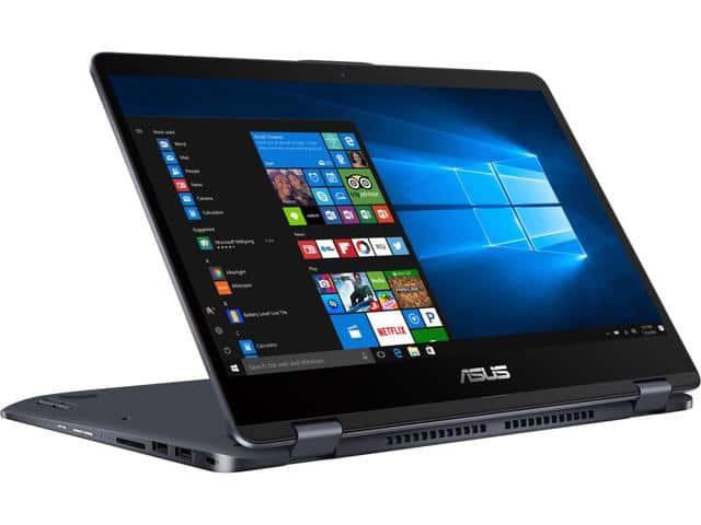 "ASUS VivoBook Flip TP301UA 2-in-1 Laptop: FHD 14"" IPS Touchscreen, i7-7500U, 1TB HDD,, 8GB DDR4 $749"