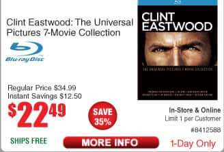 Clint Eastwood: The Universal Pictures 7-Movie Collection - $22.49 @ Frys