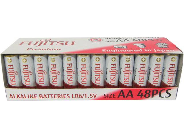 Fujitsu AA Premium Alkaline Battery 48pcs Shrink Pack $8AC