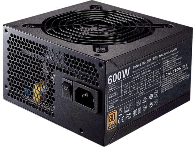 Cooler Master MWE Bronze 600 80+ Bronze Power Supply $35AR