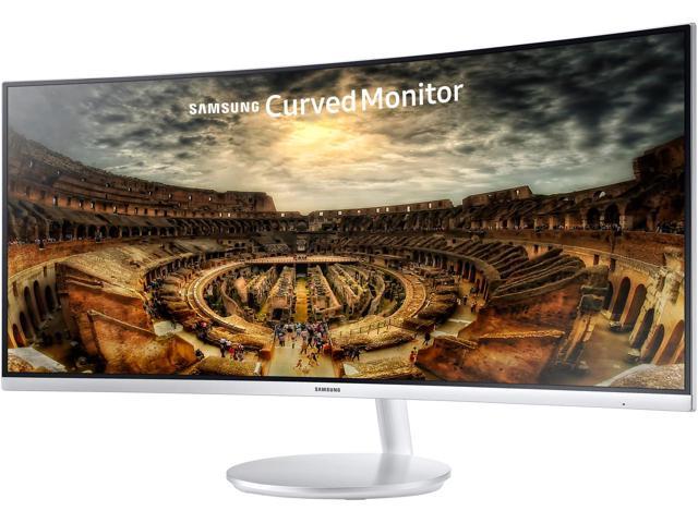 """Samsung C34F791 34"""" Silver Curved FreeSync Gaming Monitor 3440 x 1440 100Hz $600AC"""