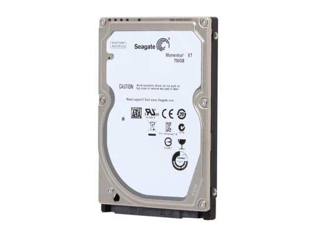 "750GB Seagate Momentus XT 2.5"" Solid State Hybrid Drive  $40"