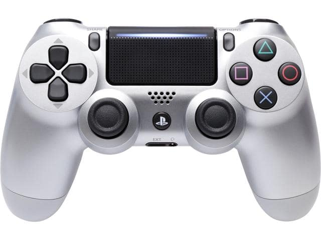Sony DualShock 4 Wireless Controller for PlayStation 4 - Silver (CUH-ZCT2) (Gold, Red, Blue also)  $38AC