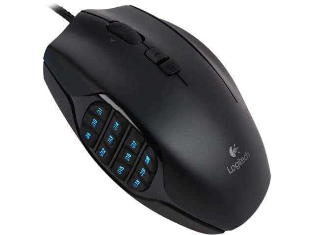 Logitech G600MMO MMO Gaming Mouse $25
