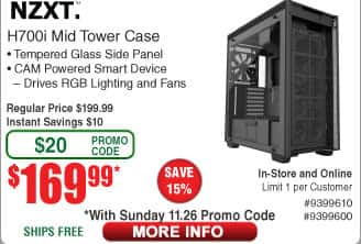 NZXT H700i Premium Mid Tower Case $170AC @Frys (starts 11/26)