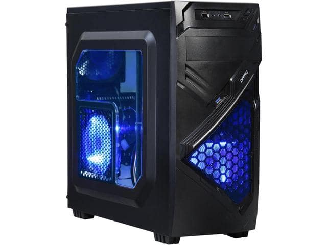 DIYPC Alnitak-BK Black Mid Tower Case $17AR