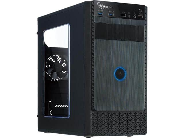 Rosewill FBM-X1 Black Steel / Plastic ATX Mini Tower Case with Side Panel Window $10AR; LINE-M mATX also $10AR