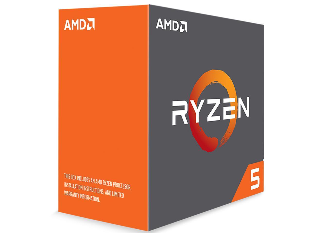 AMD RYZEN 5 1600X 6-Core 3.6 GHz CPU $190AC