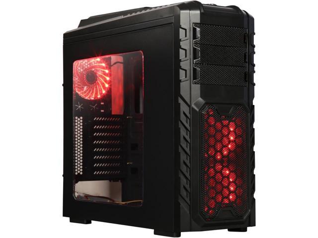 DIYPC Skyline-06-RGB Black Full Tower Case w/remote $60AR