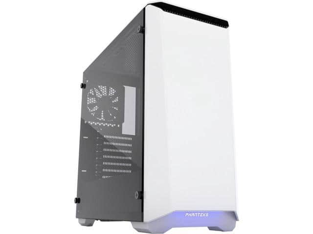 Phanteks Eclipse P400S PH-EC416PSTG_WT Silent Edition Glacier White Tempered Glass/Steel ATX Mid Tower Case $70AR