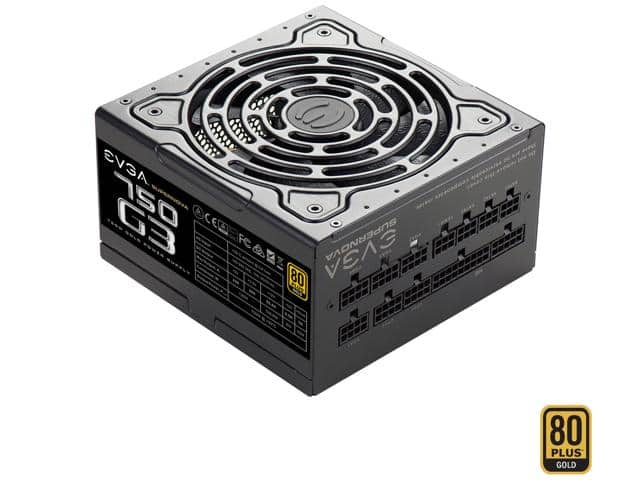 EVGA SuperNOVA 750 G3 750W 80 Plus Gold Modular Power Supply $80AR @Newegg