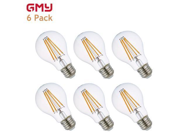 6-pk GMY 8W 800 lumen 60W Equiv A19 Filament LED Edison Light Bulb Dimmable $20 @Newegg 60W ST64 Incandescent $10/6