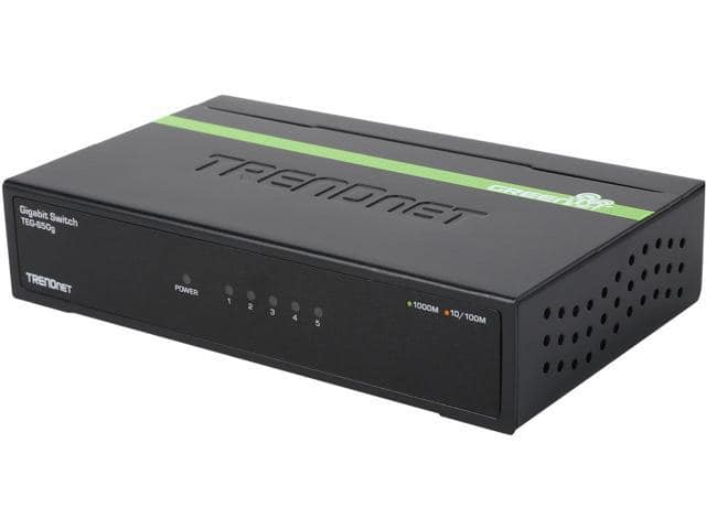 5-Port TRENDnet TEG-S50G Gigabit GREENnet Switch (metal) $13AC@Newegg