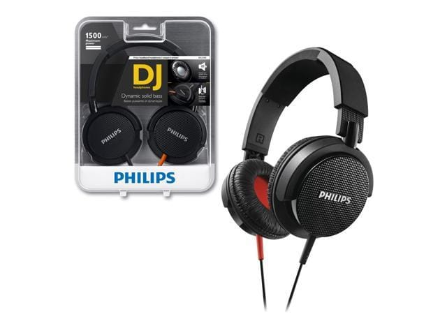 Philips SHL3100BK Black Dynamic Solid Bass 1500mW Foldable DJ Stereo Headphones $13AC